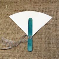 Φτιάξτο Μόνος Κιτ για Χάρτινες Εκρού Βεντάλιες Συσκ. 30 τμχ. με χρωματιστά χερούλια